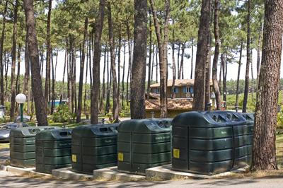 Camping tri des déchets
