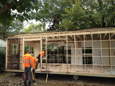 deconstruction mobil home recyclage eco mobilhome. Black Bedroom Furniture Sets. Home Design Ideas